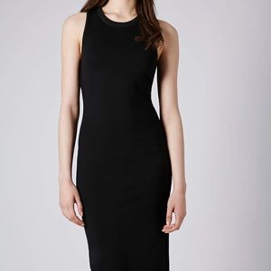 Topshop black midi dress